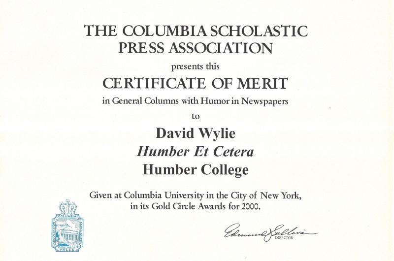 Columbia award